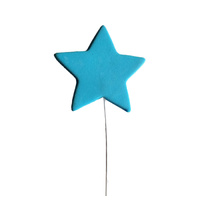 Blue Icing Stars On Wire