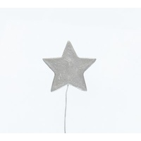 Metallic Silver Icing Stars On Wire