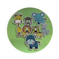 Jungle Animals Round Edible Image