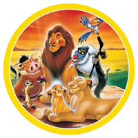 Lion King Round Edible Image