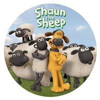 Shaun The Sheep Round Edible Image