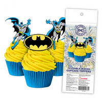 Batman Edible Wafer Cupcake Toppers - 16 Piece