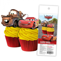 Disney Cars Edible Wafer Cupcake Toppers - 16 Piece