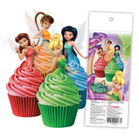 Disney Fairies Edible Wafer Cupcake Toppers - 16 Piece