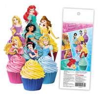 Disney Princess Edible Wafer Cupcake Toppers - 16 Piece