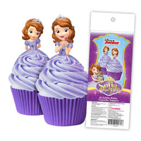 Disney Sofia The First Edible Wafer Cupcake Toppers - 16 Piece