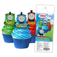 Thomas The Tank Engine Edible Wafer Cupcake Toppers - 16 Piece