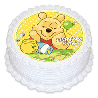 POOH & BEES EDIBLE ICING IMAGE