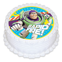 Buzz Lightyear Edible Icing Image - Round
