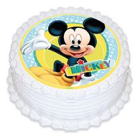 Mickey Mouse Edible Icing Image - Round