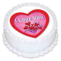 I Love You Edible Image - Round