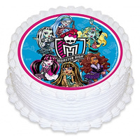 Monsters High Edible Image - Round