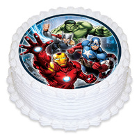 Avengers Edible Image - Round