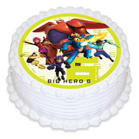 Big Hero 6 Round Edible Image - Round