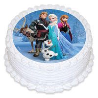 Frozen Group Edible Image - Round