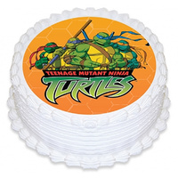 Ninja Turtles Orange Edible Image