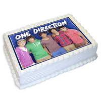 One Direction Edible Image - A4