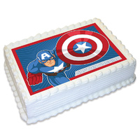 Captain America Edible Image - A4