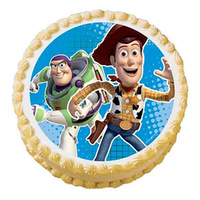 Buzz & Woody Edible Image - Round