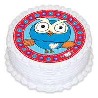 Giggle And Hoot Round Edible Image - Round