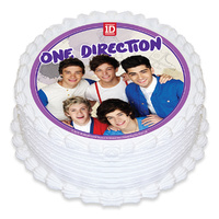 One Direction Round Edible Image