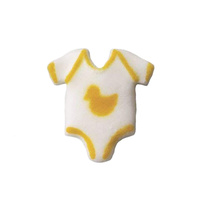 Sugar Decoration Baby Onesie Yellow 2.8cm
