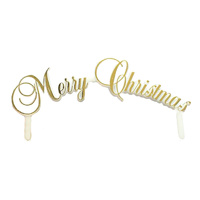 Gold Merry Christmas Mottoes 8cm
