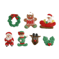 Xmas Sugar Decorations 7Pcs