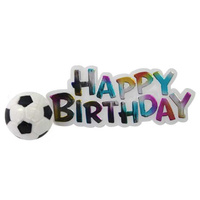 Happy Birthday Sign & Soccer Ball