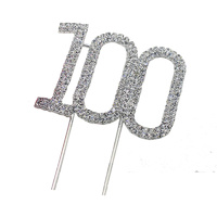 4cm Diamante Cake topper 100th