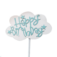 Cloud Happy Birthday Topper Blue