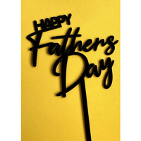 Happy Fathers Day Topper 16cm