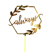 Acrylic Gold Always Cake Topper