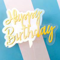 Acrylic Birthday Topper Yellow
