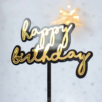 Acrylic Birthday Topper Black/Gold