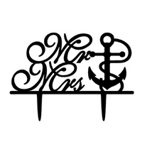 Anchor Mr & Mrs Wedding Cake Topper