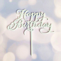 Acrylic Blue Birthday Topper 12cm