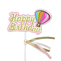 Balloon Happy Birthday Cake Topper Pink