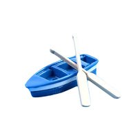 Blue Boat And Oars