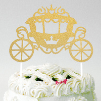 Gold carriage Cake Topper