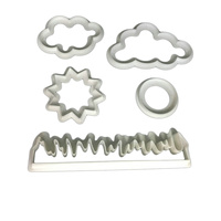 Cloud-Grass-Sun Fondant Cutter set