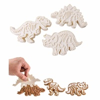 Dinosaur Skeleton plunger cutter 3pc Set