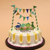 Dinosaur Cake Flag Set