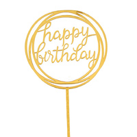 Acrylic Birthday Topper Gold