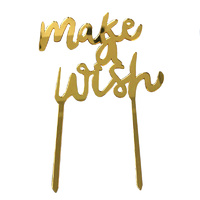 Gold Make A Wish Topper Acrylic