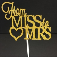 From Miss To Mrs Topper Gold