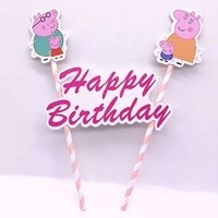 Peppa Pig Cake Flag Topper