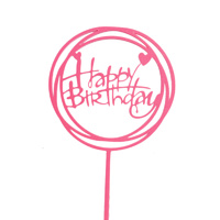 Acrylic Birthday Topper Pink