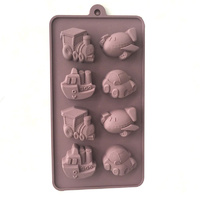 Vehicles Silicone Chocolate Mould