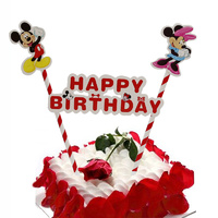 Minnie and Mickey Mouse Cake Flag Topper